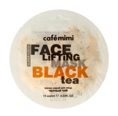 """Cafe Mimi Face Lifting Maseczka - scrub do twarzy Czarna Herbata & Trawa Cytrynowa  10ml"""""""