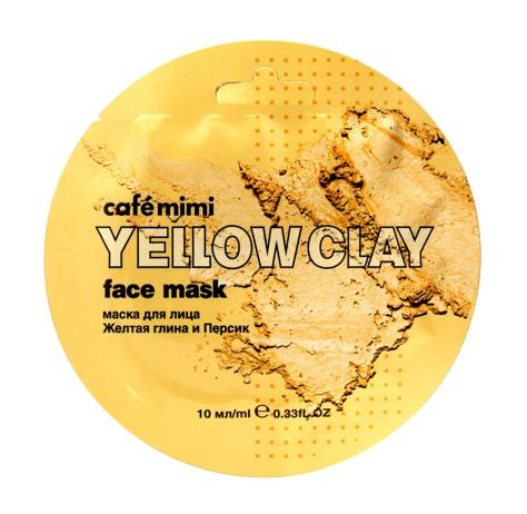 """Cafe Mimi Yellow Clay Maseczka do twarzy Żółta Glinka & Brzoskwinia  10ml"""""""