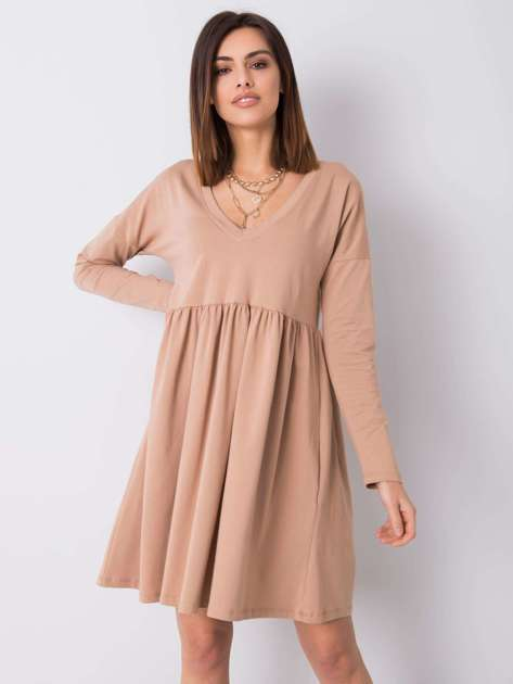 Camelowa sukienka Brooke RUE PARIS