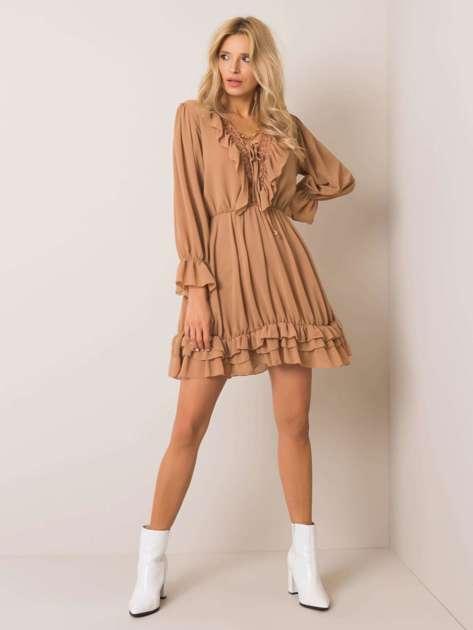 Camelowa sukienka Winona OCH BELLA
