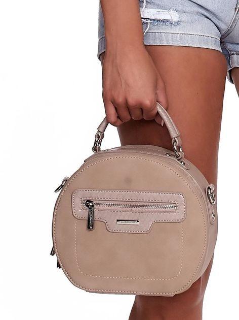 Camelowa torebka kuferek z chwostem                              zdj.                              2