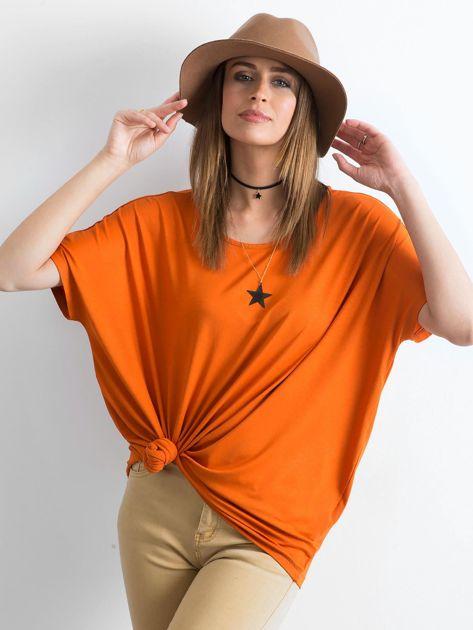 Ceglasta bluzka Oversize                              zdj.                              1