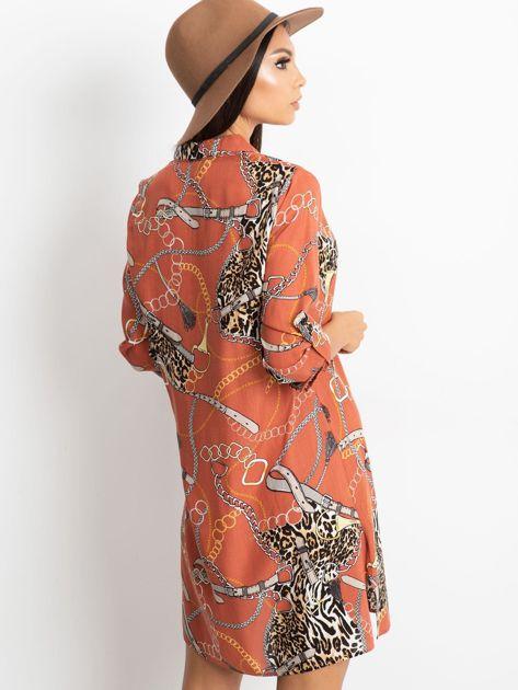 Ceglasta sukienka Gracia                              zdj.                              2