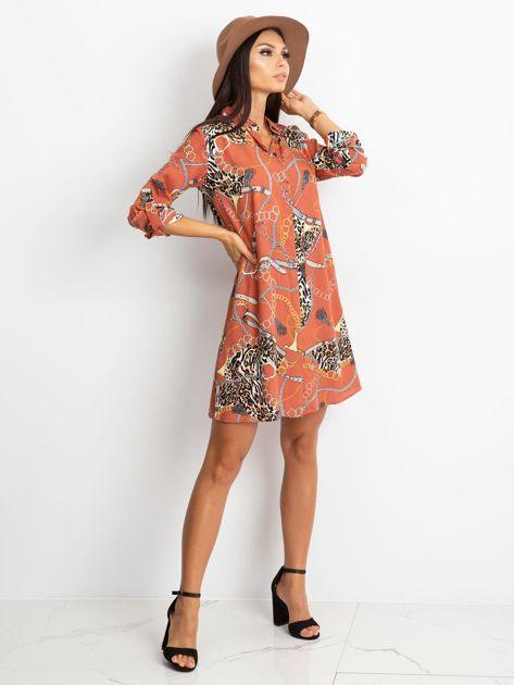 Ceglasta sukienka Gracia                              zdj.                              4
