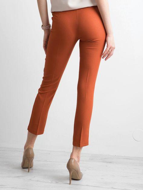 Ceglaste spodnie z wiązaniem                              zdj.                              2