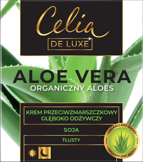 """Celia De Luxe Aloe Vera Tłusty Krem przeciwzmarszczkowy głęboko odżywczy na dzień i noc 50ml"""""""