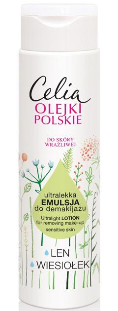 Celia Olejki Polskie Ultralekka emulsja do demakijażu Len i Wiesiołek - skóra wrażliwa 200 ml