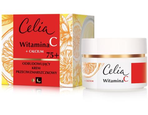 Celia Witamina C 75+ Odbudowujący krem przeciwzmarszczkowy na dzień i noc 50 ml