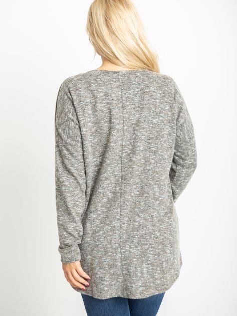 Ciemnobeżowa bluzka plus size Bertha                              zdj.                              2