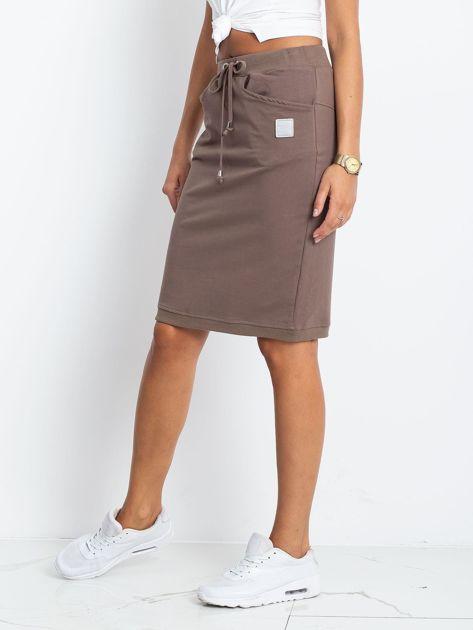 Ciemnobeżowa spódnica Features                              zdj.                              3