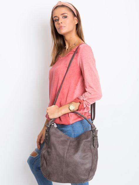 Ciemnobrązowa torba damska na ramię                              zdj.                              4