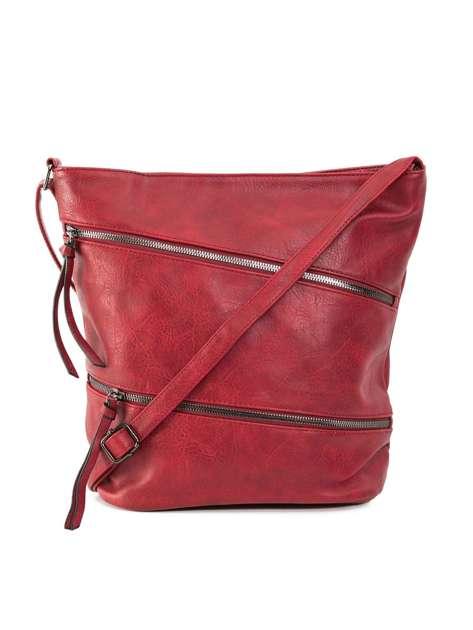 Ciemnoczerwona duża torba damska