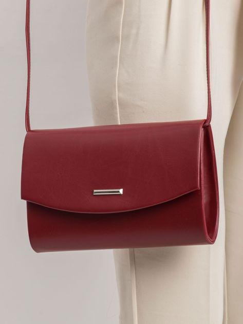 Ciemnoczerwona elegancka kopertówka