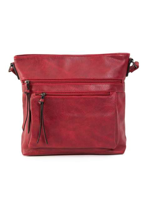 Ciemnoczerwona torebka z paskiem