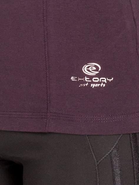 Ciemnofioletowa bluzka sportowa basic PLUS SIZE                                  zdj.                                  5
