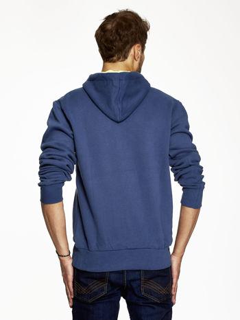 Ciemnoniebieska bluza męska z motywem Londynu