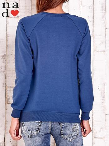 Ciemnoniebieska bluza w serduszka                                  zdj.                                  4