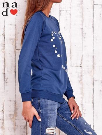 Ciemnoniebieska bluza z wzorem serca                                  zdj.                                  3