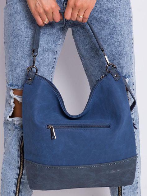 Ciemnoniebieska klasyczna torba                              zdj.                              5