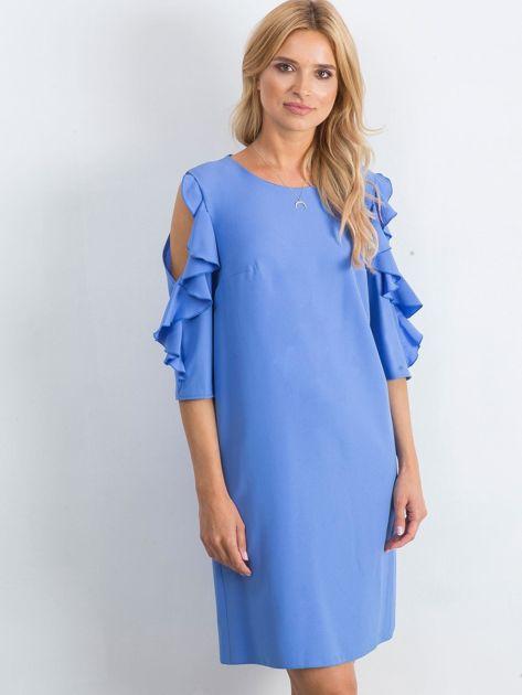 Ciemnoniebieska sukienka Brilliance                              zdj.                              1