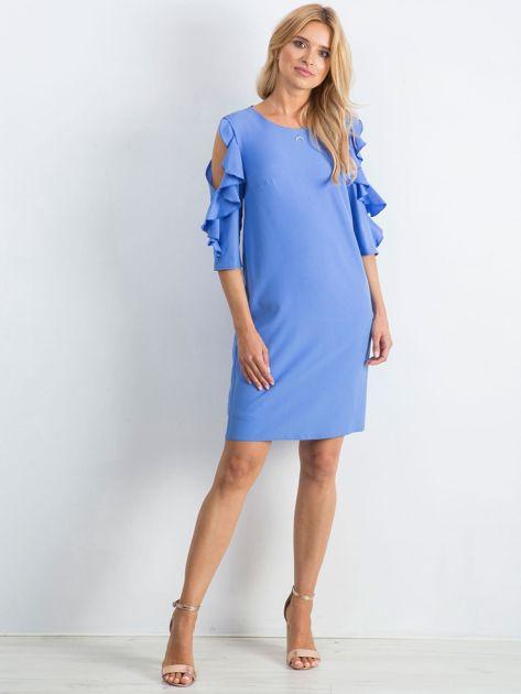 Ciemnoniebieska sukienka Brilliance                              zdj.                              4