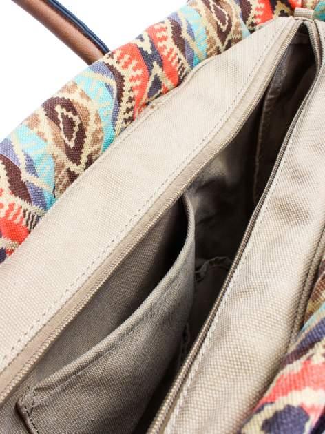 Ciemnoniebieska torba gumowa z motywem azteckim                                  zdj.                                  9