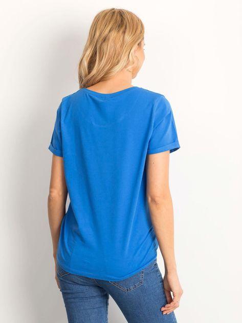 Ciemnoniebieski t-shirt Transformative                              zdj.                              2