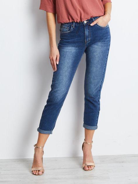 Ciemnoniebieskie jeansy Among                              zdj.                              1