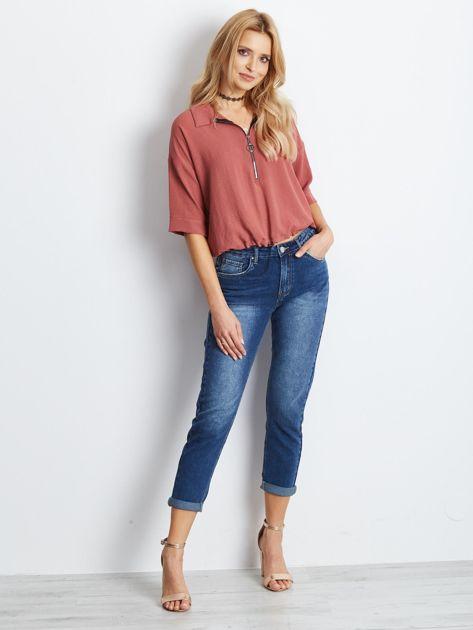 Ciemnoniebieskie jeansy Among                              zdj.                              4