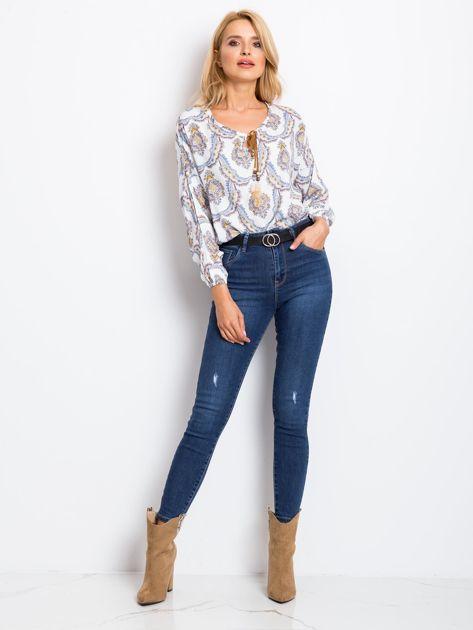 Ciemnoniebieskie jeansy Risen                              zdj.                              4