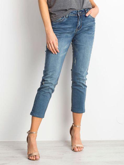 Ciemnoniebieskie spodnie jeansowe Renamed                              zdj.                              1
