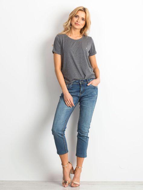 Ciemnoniebieskie spodnie jeansowe Renamed                              zdj.                              4