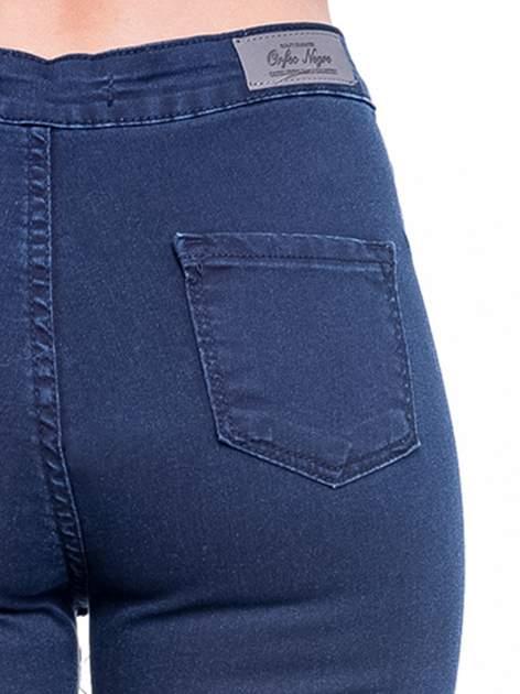 Ciemnoniebieskie spodnie skinny jeans z wysokim stanem                                  zdj.                                  8
