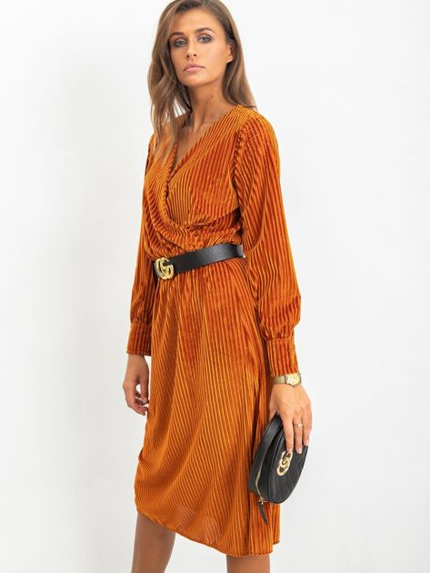 Ciemnopomarańczowa sukienka Attractive                              zdj.                              3