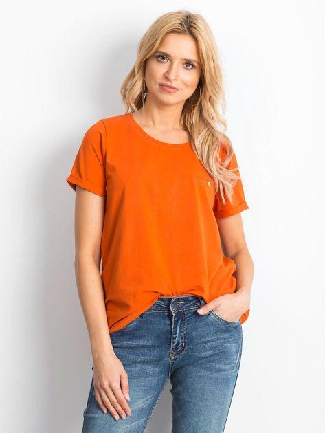 Ciemnopomarańczowy t-shirt Transformative