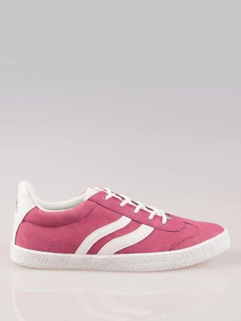 Ciemnoróżowe buty sportowe w stylu casual