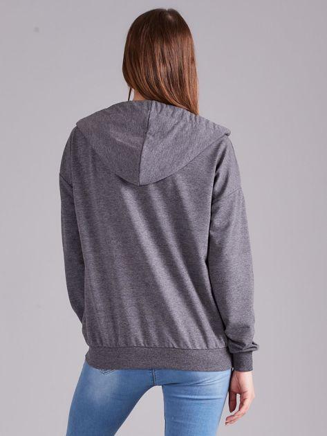 Ciemnoszara bawełniana bluza na suwak                              zdj.                              2