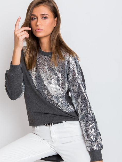 Ciemnoszara bluza Shine                              zdj.                              1