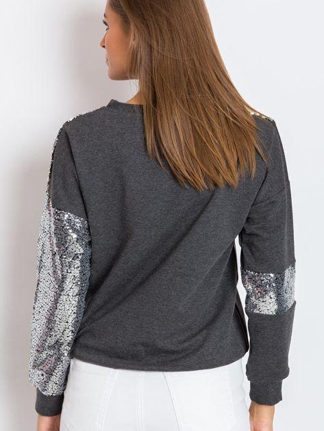 Ciemnoszara bluza Shine                              zdj.                              2