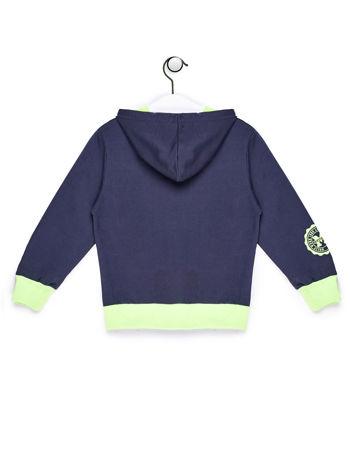 Ciemnoszara bluza chłopięca z kontrastowymi wstawkami
