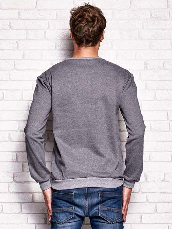 Ciemnoszara bluza męska z miejskim nadrukiem                                  zdj.                                  2