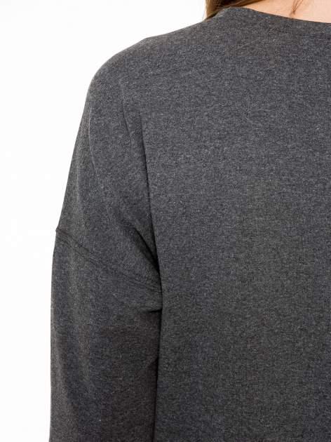 Ciemnoszara bluza z nadrukiem MEOW                                  zdj.                                  9