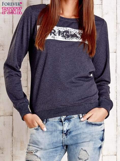 Ciemnoszara bluza z napisem ARIGATO                                  zdj.                                  1