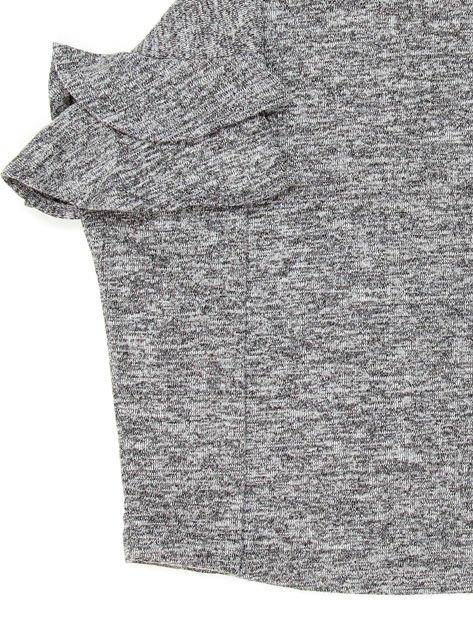Ciemnoszara bluzka dziewczęca z falbankami na rękawach                              zdj.                              6