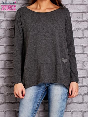 Ciemnoszara bluzka z wiązaniem na plecach                                  zdj.                                  1