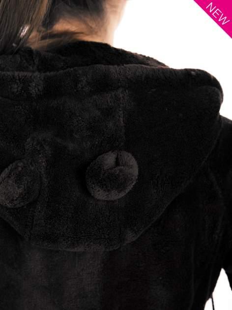 Ciemnoszara pluszowa bluza z kapturem z uszkami i pomponami                                  zdj.                                  13