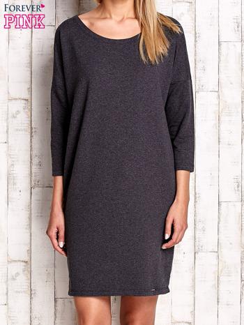 Ciemnoszara sukienka oversize                              zdj.                              1