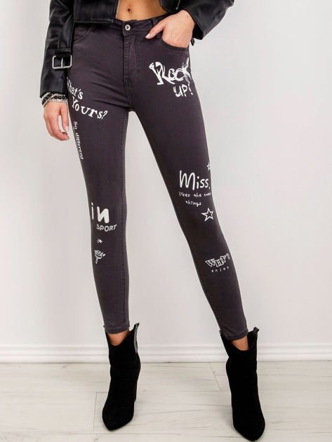 Ciemnoszare jeansy Duchess