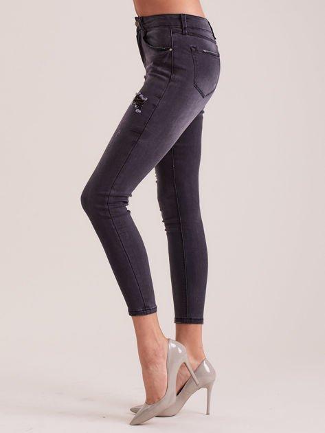 Ciemnoszare jeansy skinny                              zdj.                              3