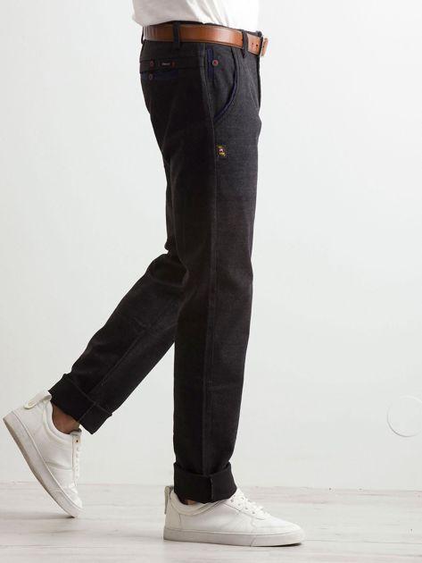 Ciemnoszare spodnie męskie                              zdj.                              3